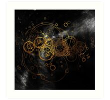 Time Lord Writing (black) Art Print