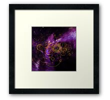 Time Lord Writing (purple) Framed Print