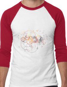 Time Lord Writing (silver) Men's Baseball ¾ T-Shirt