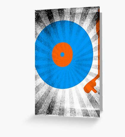 Vinyl Record Pop T-Shirt 2 Greeting Card