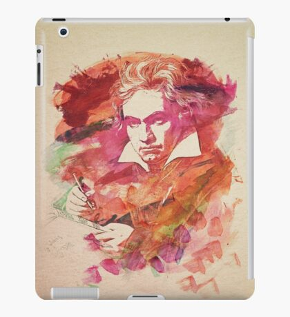 Ludwig van Beethoven Watercolor Remix  iPad Case/Skin