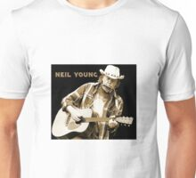 Neil Young with Text Unisex T-Shirt