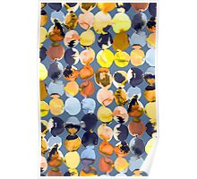 Yellow ink dots Poster