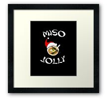 Miso Jolly Funny Foodie Christmas Framed Print