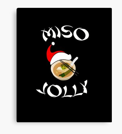 Miso Jolly Funny Foodie Christmas Canvas Print
