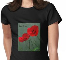 Red Poppies  Womens Fitted T-Shirt