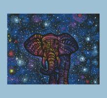 Galactic Elephant Kids Tee
