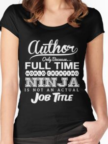 Funny Author T-shirt Novelty Women's Fitted Scoop T-Shirt