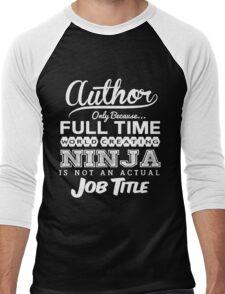 Funny Author T-shirt Novelty Men's Baseball ¾ T-Shirt