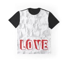 Crunchy Paper Throw with Love Graphic T-Shirt