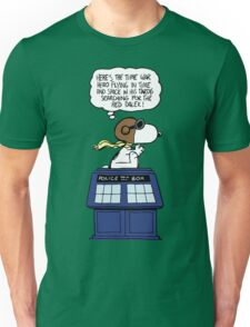 Snoopy and Dr Who Unisex T-Shirt