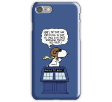 Snoopy and Dr Who iPhone Case/Skin