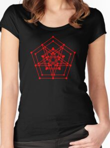 Sacred Geometry #3 (Red) Women's Fitted Scoop T-Shirt