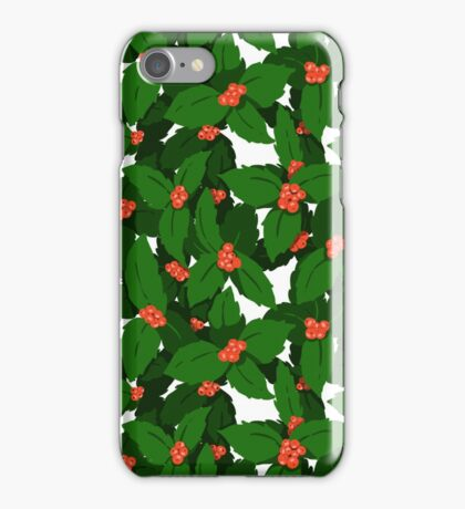 Holly Pattern iPhone Case/Skin