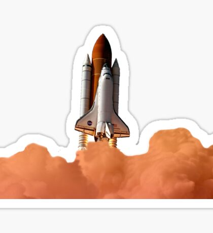 Discovery Rocket Sticker