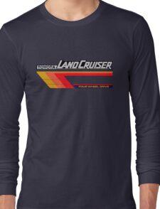 Land Cruiser body art series, red tri-stripe Long Sleeve T-Shirt