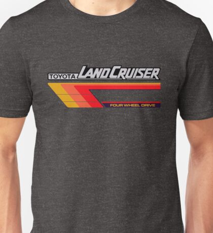Land Cruiser body art series, red tri-stripe Unisex T-Shirt