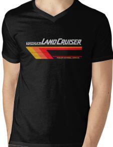 Land Cruiser body art series, red tri-stripe Mens V-Neck T-Shirt