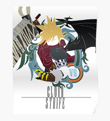 Cloud Strife Medal light-KHUX Poster