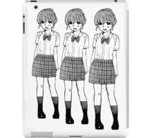 Manga Girls (White) iPad Case/Skin