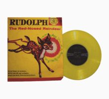 Rudolph the Red Nosed Raindeer Christmas Record One Piece - Short Sleeve