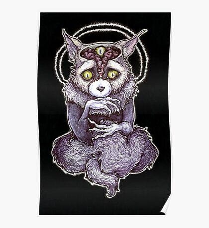 Disturbing Anxiety Cat Creature Poster