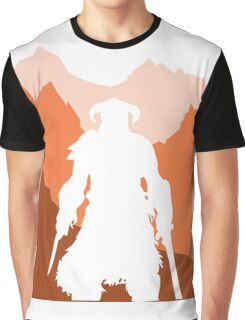 Dragonborn - Orange Graphic T-Shirt