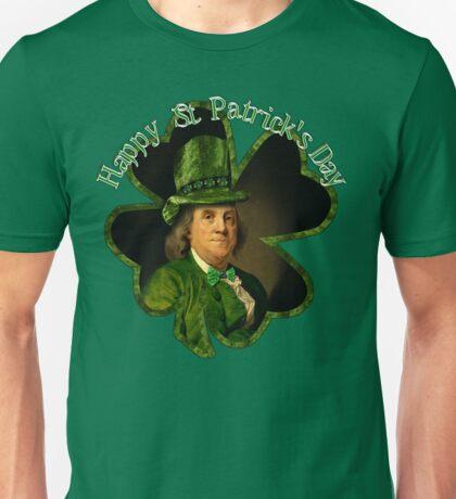 St Patrick's Day Ben Franklin Unisex T-Shirt