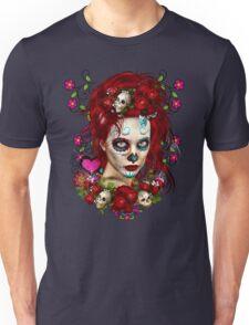 Sugar Doll Red Dia De Muertos Unisex T-Shirt