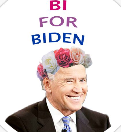 Bi for Biden Sticker