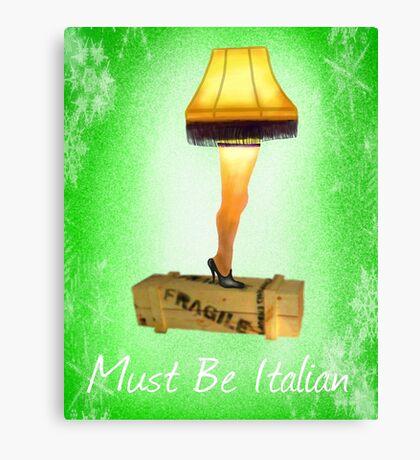 Christmas Leg Lamp Canvas Print