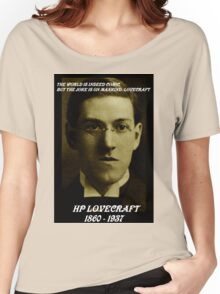 HP LOVECRAFT IN  MEMORY Women's Relaxed Fit T-Shirt
