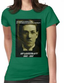 HP LOVECRAFT IN  MEMORY Womens Fitted T-Shirt