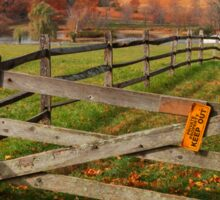 Farm Yard Fence Sticker