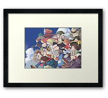 Hayao Miyazaki - Studio Ghibli - Character Collaboration Framed Print