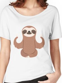 Sloth doing yoga Women's Relaxed Fit T-Shirt