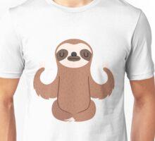 Sloth doing yoga Unisex T-Shirt