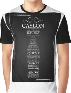 CASLON FONT POSTER Graphic T-Shirt