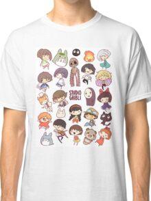Hayao Miyazaki - Studio Ghibli - Chibi Characters Classic T-Shirt