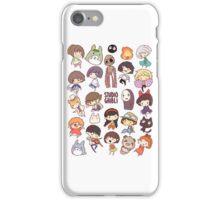 Hayao Miyazaki - Studio Ghibli - Chibi Characters iPhone Case/Skin