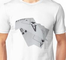 Poker Cards, Clubs On The Turn Unisex T-Shirt