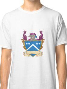Knight Helmet Star Chevron Drawing Classic T-Shirt