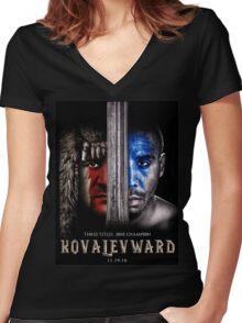 KOVWARD CRAFT Women's Fitted V-Neck T-Shirt