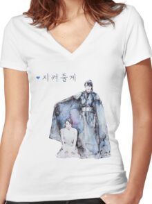 Moon Lovers - I will protect you Women's Fitted V-Neck T-Shirt