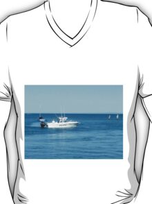 A large boat on its way out to sea for some fishing- Werribee Sth. T-Shirt