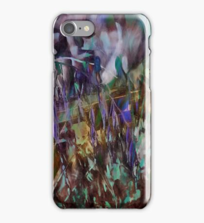 Country Fence with Grasses iPhone Case/Skin
