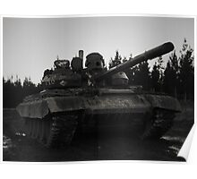 T55AM2 Tank Poster