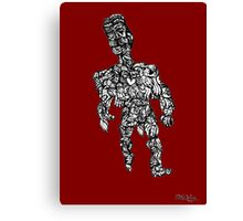 Naked Man Covered Up Canvas Print