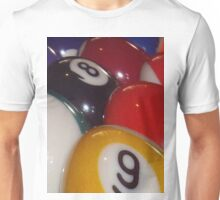 Eightball, Colorful Traditional Eight Balls Unisex T-Shirt