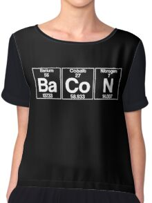 Ba-Co-N (bacon) - white Chiffon Top